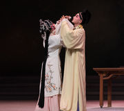 "cross-cupped wine-The third act Male Yellow Wine-Kunqu Opera""Madame White Snake"" Royalty Free Stock Images"