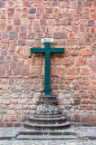 Cross and Cusco Cathedreal Royalty Free Stock Image