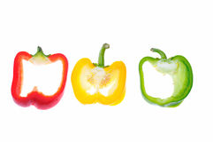 Cross-cut peppers. Royalty Free Stock Image