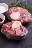 Cross cut veal shank Stock Photo