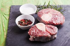 Cross cut veal shank Stock Photos