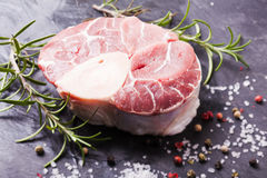 Cross cut veal shank Stock Images