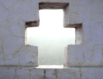 Cross Cut in Wall Stock Image