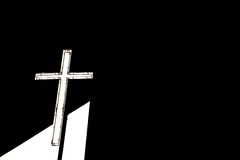 Cross in the dark Stock Photos