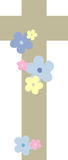 Cross decorated with flowers (I) Royalty Free Stock Photography