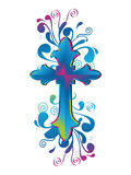 Cross Decorative. Decorative cross with color shades Stock Image