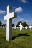Cross depicting War Grave Stock Photos