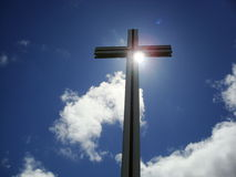 Cross des Papstes stockbild
