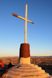 Cross in the Desert Stock Photography