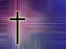 Cross Design. A digitally crreated cross and background with room for copy.  Can be used during the holidays.  Easter, Christmas, Advent, Thanksgiving, etc.  Or Royalty Free Stock Photos