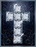 Cross diamonds cover design Stock Images