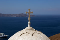 Cross and dome. royalty free stock photography
