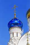 Cross with a dome in the church. Cross with a dome in the Orthodox church royalty free stock images