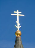 Cross on the dome Royalty Free Stock Photo