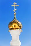 Cross with dome in the Orthodox church. Royalty Free Stock Images