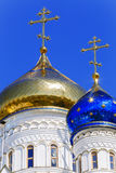 Cross with  dome in the Orthodox church. Stock Photos