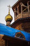 Cross on the dome of the Orthodox Church Royalty Free Stock Photos