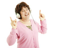 Cross Dresser Enjoys Music Royalty Free Stock Photo