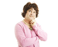 Cross Dresser - Lost in Thought Royalty Free Stock Photography