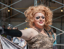Cross-dresser in Pride Parade Royalty Free Stock Photos