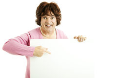 Cross Dresser with Sign Stock Photography