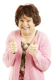 Cross Dresser - Two Thumbs Up Stock Photography