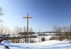 cross drewniany chrześcijaństwo obrazy stock