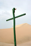 Cross in the dunes Stock Image
