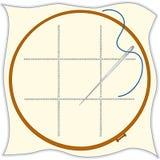 cross embroidery hoop needle stitch threa Στοκ εικόνα με δικαίωμα ελεύθερης χρήσης
