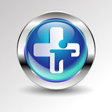 Cross emergency medical icon sign health symbol Stock Image