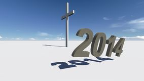 Cross end 2014. Made in 3d software Vector Illustration