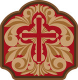 Cross with engraving scrollwork Royalty Free Stock Photo
