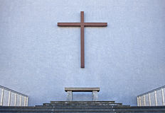 Cross on exterior wall of Cathedral Royalty Free Stock Photos