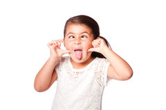 Cross eyed funny face Royalty Free Stock Image