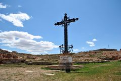 Cross of the fallen in Belchite Royalty Free Stock Photos