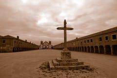 Cross in field Stock Photos