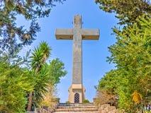 Cross at Filerimos Rhodes Royalty Free Stock Images