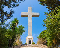 Cross at Filerimos Rhodes Stock Photography