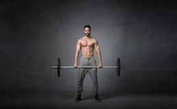 Cross fitter weights balance Stock Images