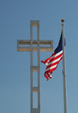 Cross and Flag Stock Photography