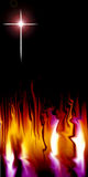 Cross and flame Stock Photo