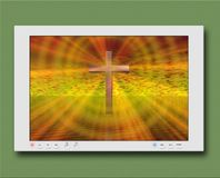 Cross on flat panel Royalty Free Stock Photography