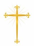 Cross Fleur. Gold cross fleur de lis Royalty Free Stock Photography