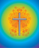 Cross With flourishes Royalty Free Stock Photography