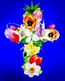 Cross Flower. Computer made beautiful cross flower design Royalty Free Stock Image