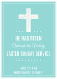 Cross and Flowers. Easter Sunday Service Christian Church Poster Template Royalty Free Stock Images