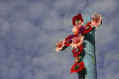Cross Of Flowers - Horizontal Format Royalty Free Stock Image