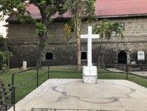 Cross. Fort Santiago Stock Photo