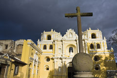Cross in front of La Merced Royalty Free Stock Photography