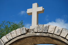 Cross on the gate Stock Photography